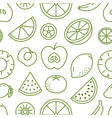 fruit background abstract food seamless pattern vector image vector image