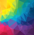 full color rainbow spectrum polygon triangular vector image vector image