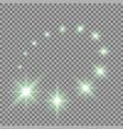 Glittering flying stars green color