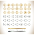 Golden and silver mandala vector image vector image