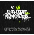 Graffiti alphabet and numbers vector image vector image
