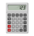 Gray Calculator vector image vector image