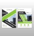 Green annual report Leaflet Brochure templates set vector image vector image