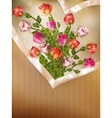 greeting card with detailed roses eps 10 vector image