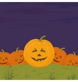halloween pumpkins army vector image