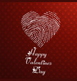 happy valenetines day card with red hearts vector image vector image