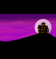 haunted old house with moon in background vector image vector image