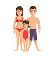 isolated cute beach family vector image vector image