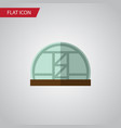 isolated greenhouse flat icon hothouse vector image