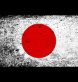 japanese flag with heavy grunge vector image vector image