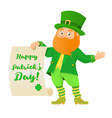 leprechaun with text vector image
