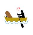 lover skateboarding skateboard and guy ride in vector image vector image