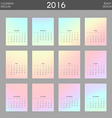 Modern calendar 2016 with colorful hologram in vector image