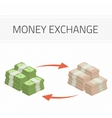 Money exchange vector image