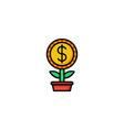 money grow icon vector image vector image