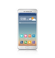 new realistic mobile white smartphone modern vector image vector image
