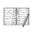 notepad and pencil sketch vector image vector image