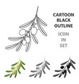 olive brancholives single icon in cartoon style vector image vector image