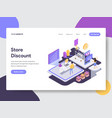 Online shopping discount isometric