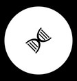 part of dna simple black and green icon eps10 vector image vector image