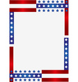 Patriotic frame background vector image