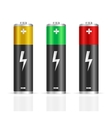 Realistic Colorful Battery Set vector image vector image