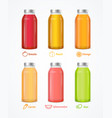 realistic detailed 3d different juice bottle set vector image vector image