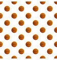 round biscuit pattern seamless vector image vector image