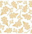 seamless pattern of branches with acorns vector image vector image