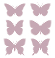 Shadows of butterflies eps10 vector image vector image