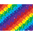 shamrock rainbow vector image vector image