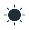 simple line art icon black glowing sun vector image vector image