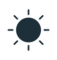 simple line art icon black glowing sun with vector image