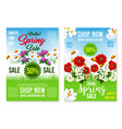 spring holiday sale posters web templates vector image vector image