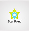 star point logo icon element and template vector image