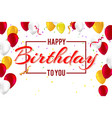 stylish greetings happy birthday creative car vector image vector image