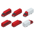Trucks isometric transport Commercial vector image vector image