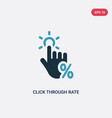 two color click through rate icon from technology vector image