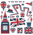 uk design elements vector image vector image