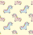 unicorn seamless pattern with unicorns colorful vector image