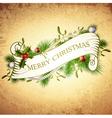 vintage merry christmas greetings vector image vector image