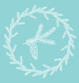 winter wreath hand drawn fir branches vector image vector image