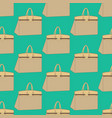woman bag pattern vector image