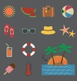 Summer icon vector image