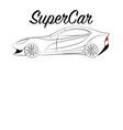 supercar vector image