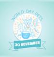 30 november world day pets vector image