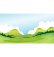 A green landscape vector image vector image