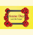 abstract background with flower for anzac day on vector image