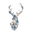 abstract geometric deer scandinavian style deer vector image vector image