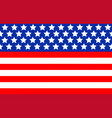american abstract flag banner background vector image vector image